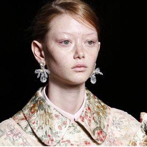 Jewelry - Handmade statement crystal clip earrings